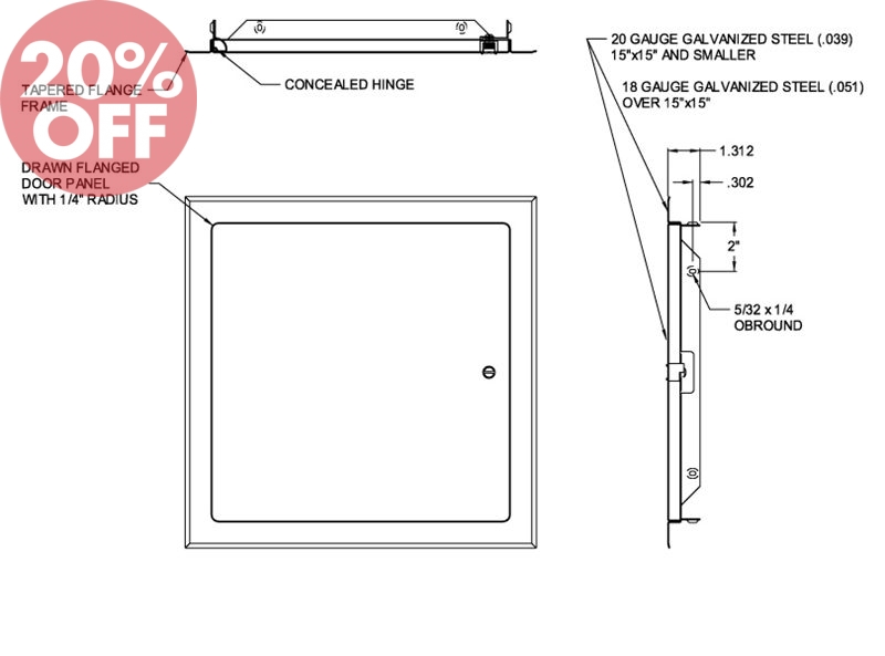 Flush Access Door Acudor Uf 5500 Universal Ceiling And